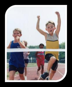 kids running and jumping goals