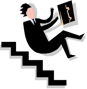 folling down stairs