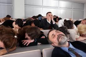 audience sleeping